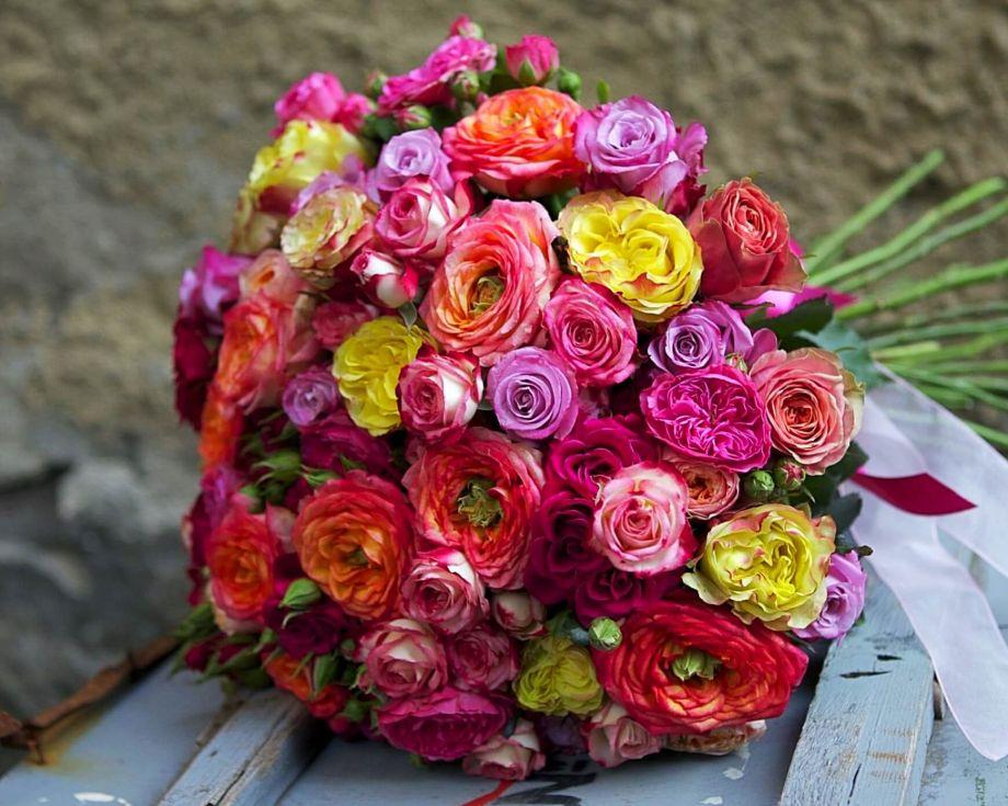 Букет роз большой
